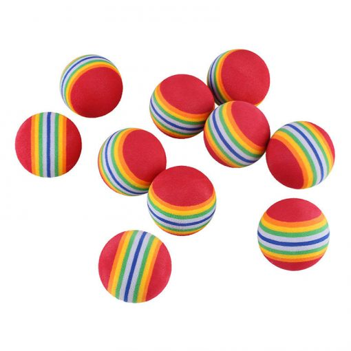 Szivacsos labdajáték cicáknak (3 db-os)