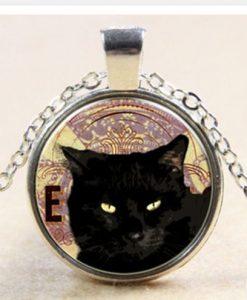 Fekete cica nyaklánc