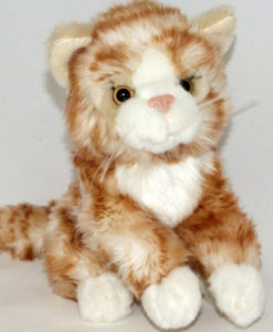 Ülő vörös plüss cica