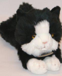 Fekete-fehér plüss cica