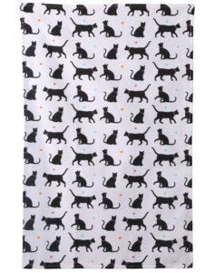 Cicás konyharuha – Fekete cica mintákkal