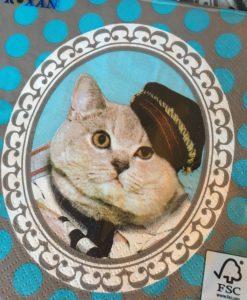 Cicás szalvéta – Macskafejjel