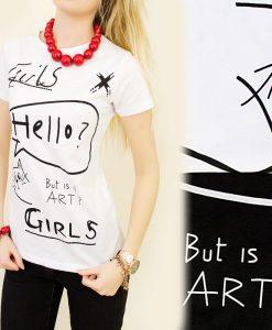 Hello Girls cicás póló – Fehér