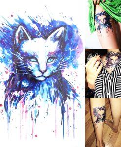 Cicás tetoválás – Ideiglenes