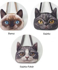 Élénk színű macskafejes táskák – Nagy