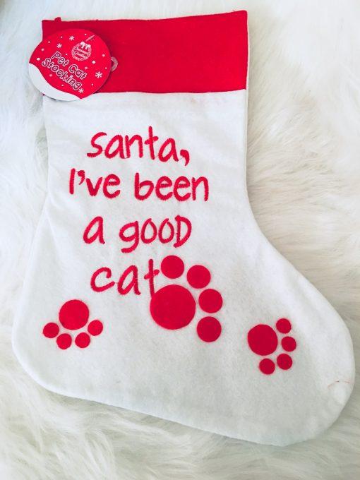 Karácsonyi cicás zoknik – 40 cm magas