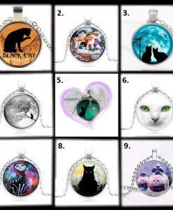 Macskás nyakláncok többféle változatban