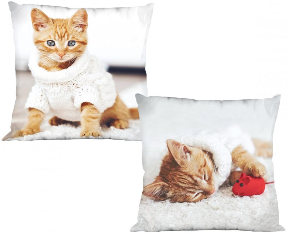 Vörös cicás párnahuzat - PurryCat - A CicaShop 149e9dd004