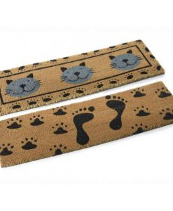 Tappancsos keskeny lábtörlők – Kókuszrost – 75 * 25 cm