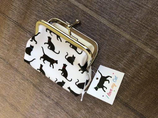 Cicamintás kis pénztárca – Fekete-fehér