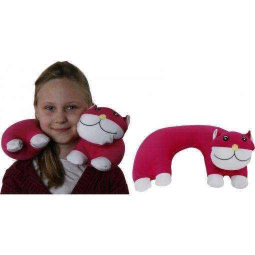 Pink cicás nyakpárna