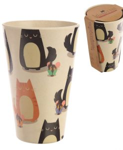 Bambuszrost cicás pohár – Környezetbarát