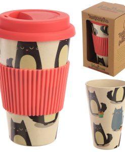 Bambuszrost – Hordozható cicás kávéspohár
