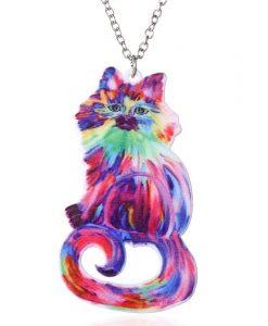 Színes macskás nyaklánc