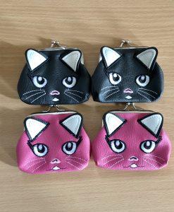 Macska fejes mini pénztárca – 2 színben!