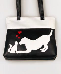 Cica-kutya barátság táska