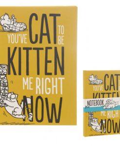 Simon's Cat sárga notesz könyv