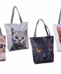 Macska mintás táskák