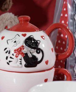 Cicás teáskanna és csésze szett Cicás teáskanna és csésze szett 28f9409897