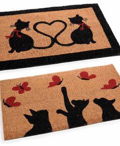Fekete cicás lábtörlők – 60 * 40 cm