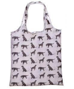 Összehajtható kutya mintás bevásárlótáska tokkal