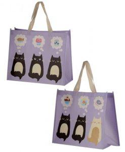 Bevásárló táska édes cicákkal