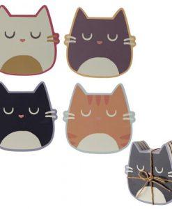 Macskás poháralátét – 4 db-os