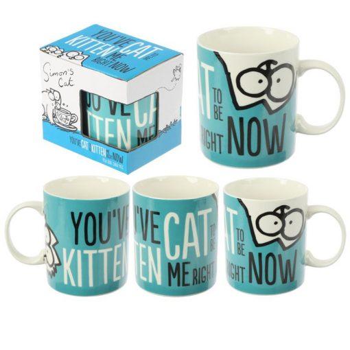 Simon's Cat kék bögre