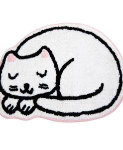 Fehér cicás szőnyeg