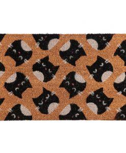 Macskafejes lábtörlő kókuszrostból