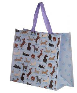 Pajkos kutyás bevásárló táska