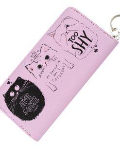 Awesome pink macskás pénztárca