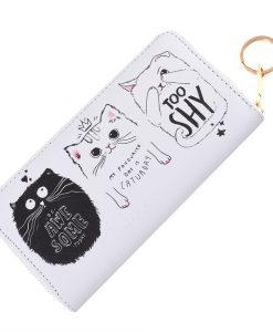 Awesome fehér macskás pénztárca