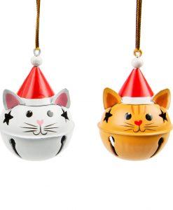 Karácsonyi cicás díszek