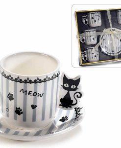 Extra kávés csésze szett cicákkal