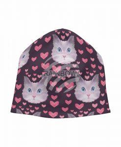 Pink macskás sapka