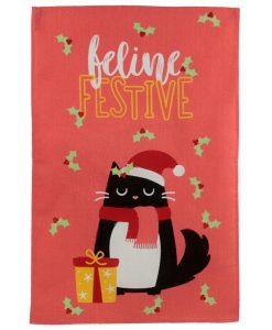 Karácsonyi macskás konyharuha
