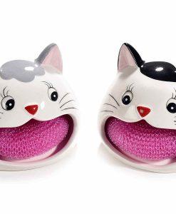 Macskás mosogatószivacs tartók