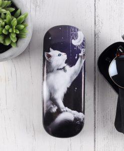 Szemüvegtok fehér cicával