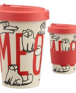 Piros Simon's Cat hordozható kávéspohár