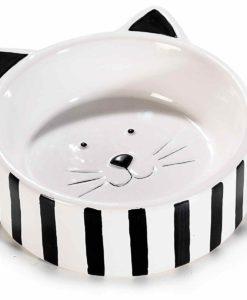Fekete-fehér cicás tálka