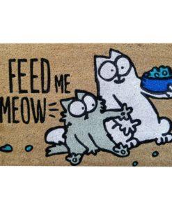 Simon's Cat lábtörlő – Feed me meow – 75 * 45
