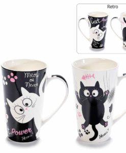 Macskás nagy latte bögre